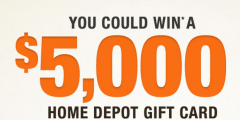Home Depot Mobile Alert $5,000 Sweepstakes