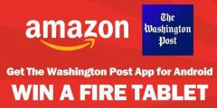 The Washington Post Fire Tablet Sweepstakes