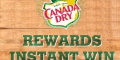 2017 Canada Dry Rewards Instant Win Game