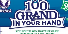Sprite and Popeyes 100 Grand In Your Hand 2017 Sweepstakes