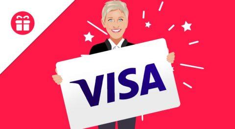 Ellen $300 Visa Gift Card Giveaway