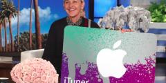 Ellen $500 iTunes Gift Card Sweepstakes