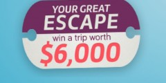 Your Great Escape Win a Trip Worth $6,000 Sweepstakes