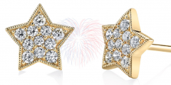 Sylvie Collection Yellow Gold Diamond Earrings Giveaway