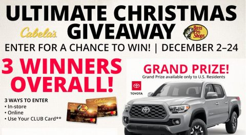 Bass Pro Ultimate Christmas Giveaway