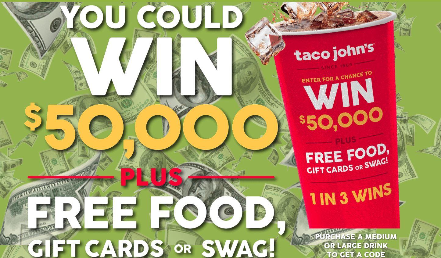 Taco John S 50th Anniversary Sweepstakes