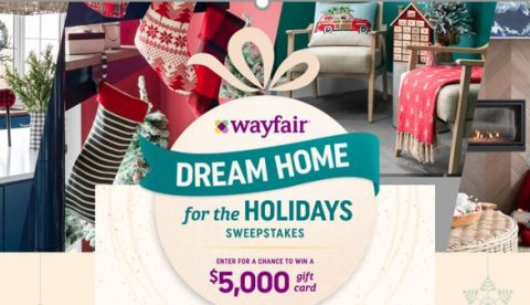 HGTV Wayfair's Dream Home For The Holidays Sweepstakes