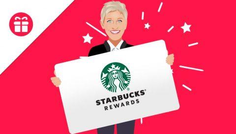 Ellen $500 Starbucks Gift Card Sweepstakes
