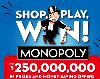 SHOP PLAY WIN - Monopoly 2020 Game Sweepstakes