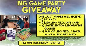 Ledo Pizza Big Game Party Giveaway