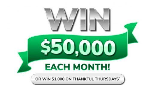 Green Dot $50,000 Giving Thanks Sweepstakes