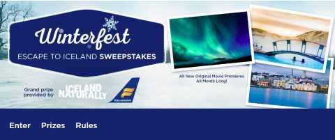 Hallmark Channel Winterfest Escape to Iceland Sweepstakes