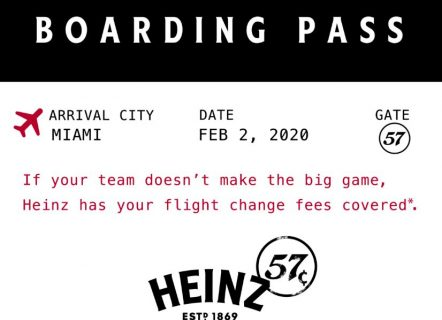 Heinz 57 Flight Change Sweepstakes