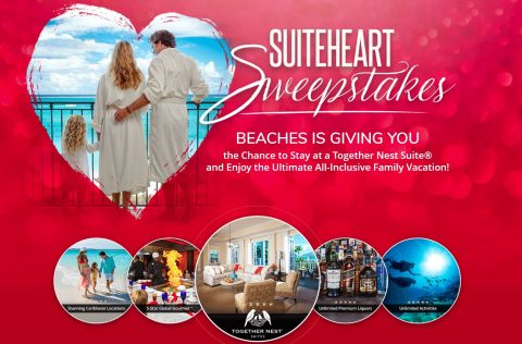 Beaches Resorts Valentine's Sweepstakes