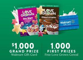 $5,000 Love Grown Walmart Sweepstakes