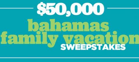 HGTV Magazine $50k Family Vacation Sweepstakes