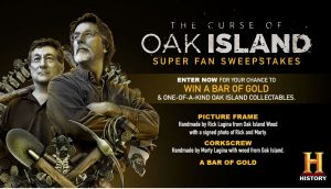 History Channel Curse of Oak Island Super Fan Sweepstakes