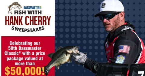 Fish with Bassmaster Classic Winner Hank Cherry Sweepstakes