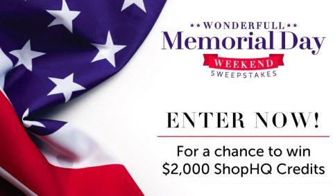 ShopHQ Wonderfull Memorial Day Sweepstakes