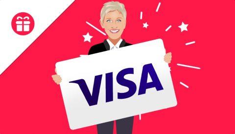 Ellen $1,000 Visa Gift Card Giveaway