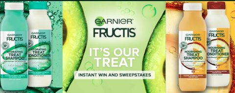 Garnier Fructis Treats Instant Win Game and Sweepstakes