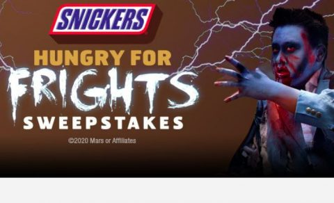 Six Flags & Snickers Hungry for Frights Sweepstakes