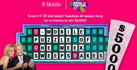 Wheel of Fortune T-Mobile Puzzle of the Week Sweepstakes