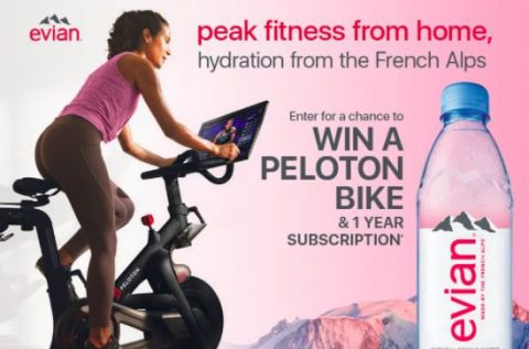 Evian - Peak Fitness From Home Sweepstakes