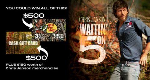 "CMT Cody Chris Janson ""Waitin' on 5"" Sweepstakes"