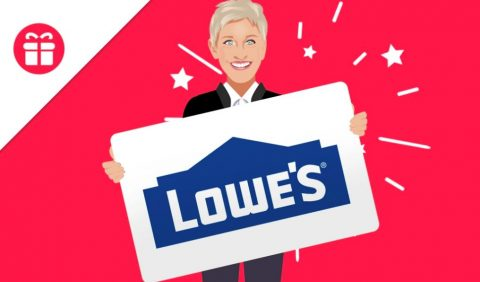 Ellen $300 Lowe's Gift Card Giveaway