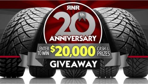 RNR Tire 20th Anniversary Giveaway