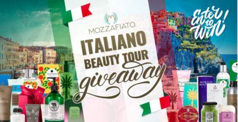 Mozzafiato Italiano Beauty Tour Giveaway