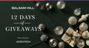 Balsam Hill 12 Days of Giveaways