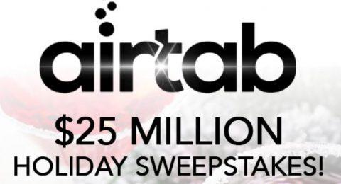 iHeartRadio Airtab 25 Million Dollar Holiday Sweepstakes