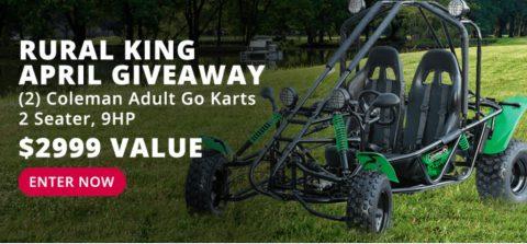 Rural King Coleman Adult Go-Kart Giveaway