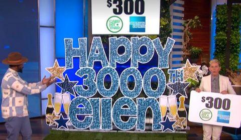 Ellen 3,000th Show Giveaways