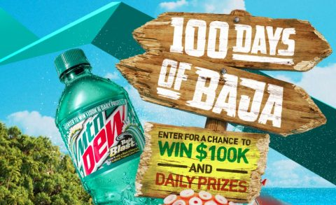 Mtn Dew 100 Days of Baja Instant Win Game Sweepstakes