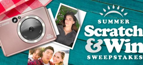 Canon's Summer Scratch & Win Instant Win Sweepstakes