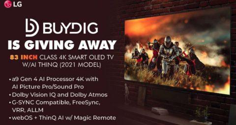 Buydig LG 4K Smart TV Giveaway