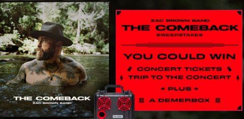 Zac Brown Band The Comeback Sweepstakes